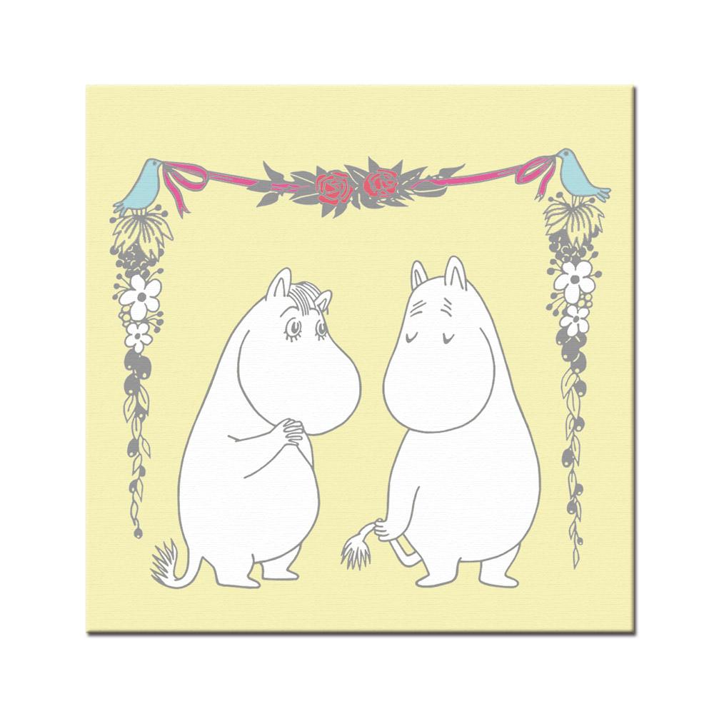 YOSHI850|Moomin嚕嚕米:無框畫【Moomin嚕嚕米,可兒】30×30cm