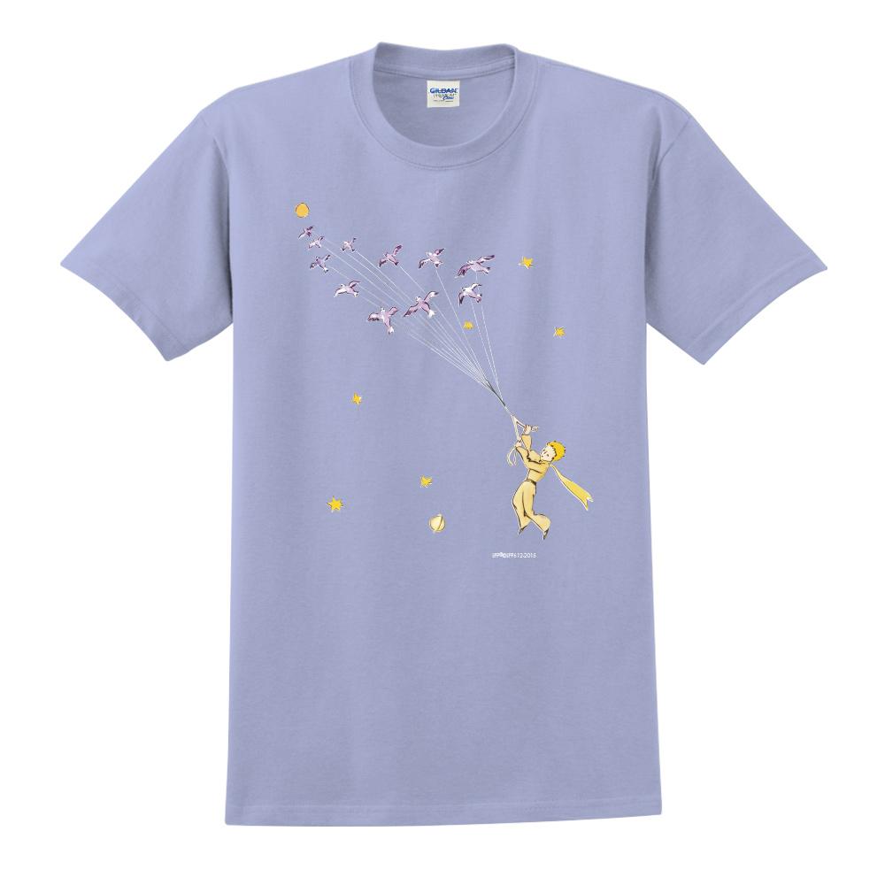 YOSHI850|小王子經典版授權【帶我去旅行】短袖中性T-shirt (卡藍)