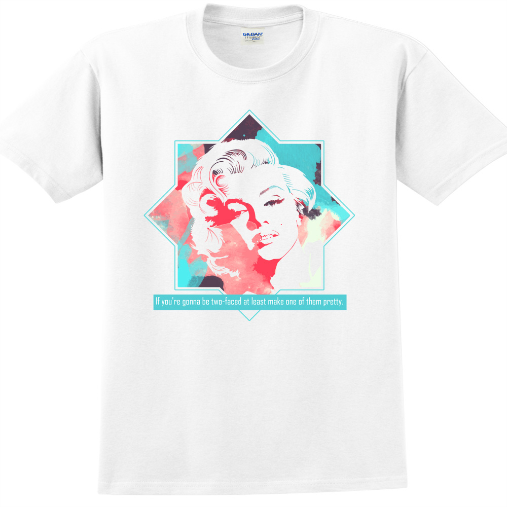 YOSHI850|新創設計師850 Collections【Two face】短袖成人T-shirt (白)
