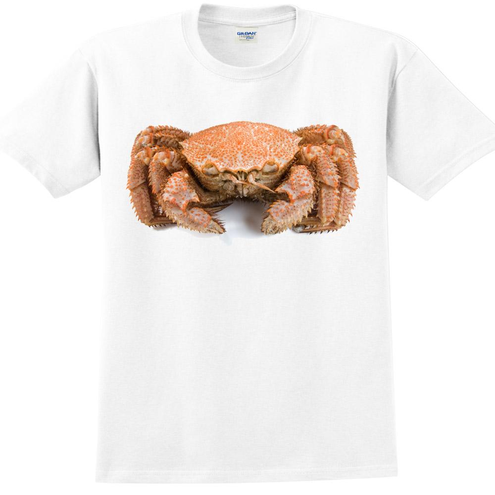YOSHI850 新創設計師850 Collections【蟹蟹你】短袖成人T-shirt (白)