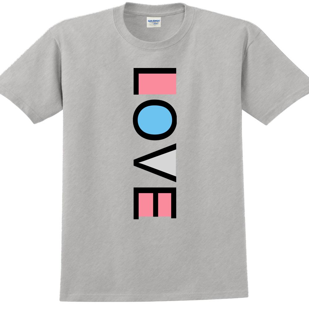 YOSHI850|新創設計師850 Collections【LOVE】短袖成人T-shirt (麻灰)