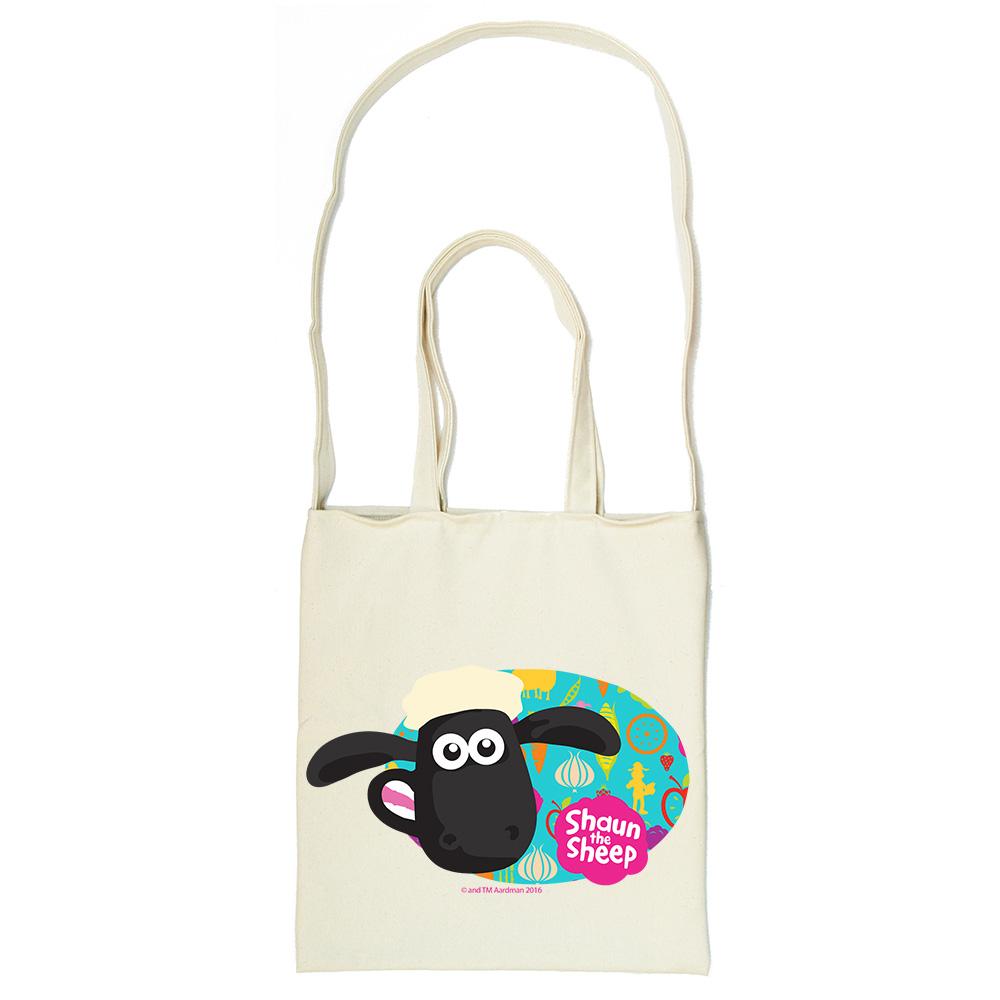 YOSHI850 笑笑羊正版授權Shaun The Sheep:斜背包【點心派對 】米白/麻黃