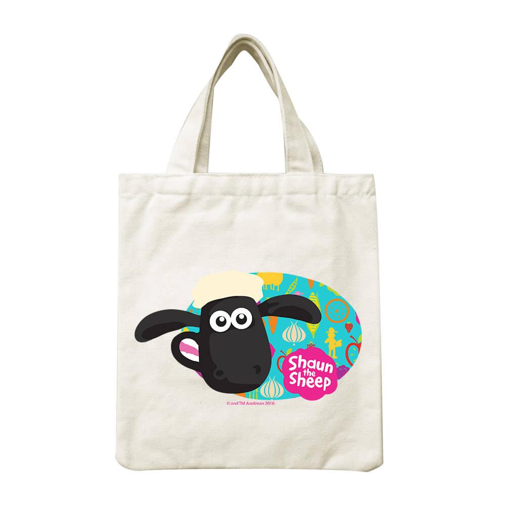 YOSHI850|笑笑羊正版授權Shaun The Sheep:小帆布包【點心派對 】