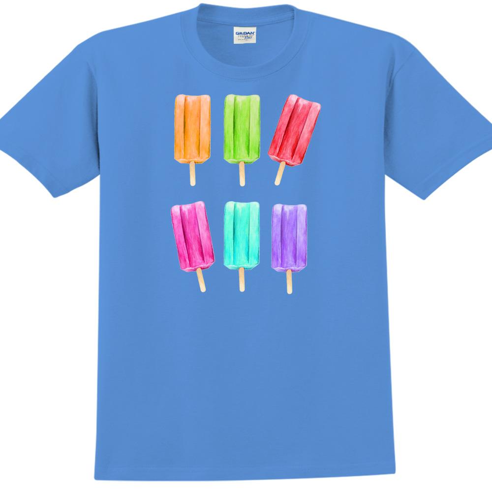 YOSHI850|新創設計師850 Collections【繽紛枝仔冰】短袖成人T-shirt (寶石藍)