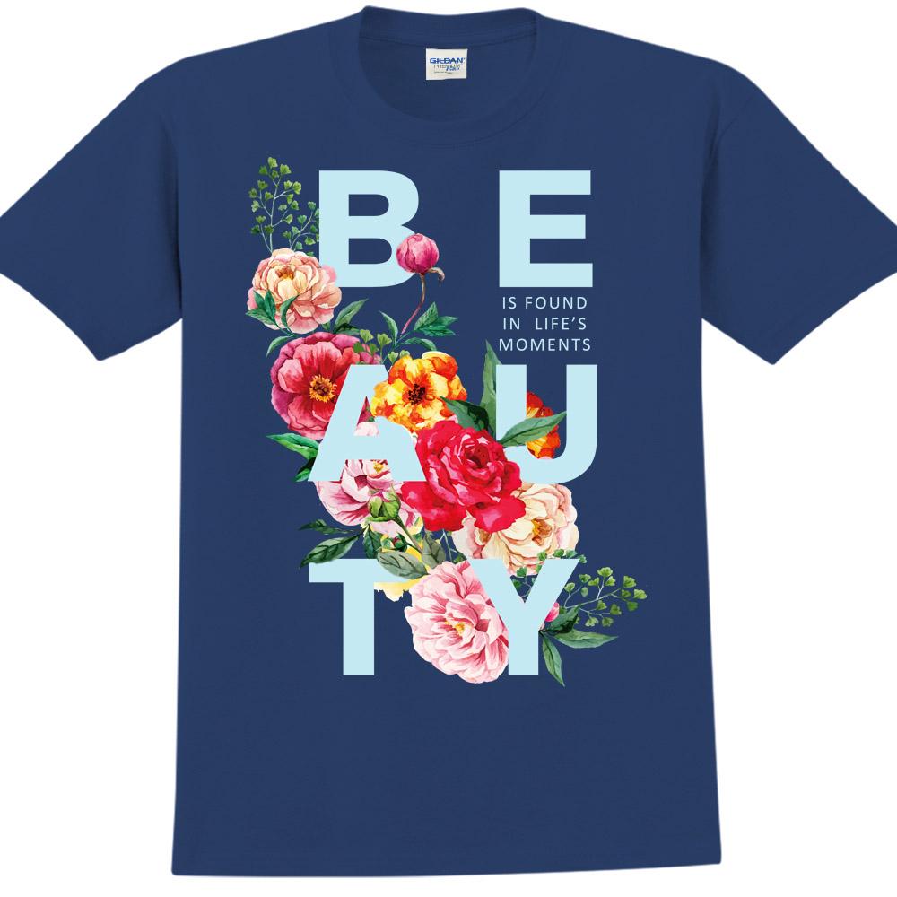 YOSHI850|新創設計師850 Collections【Beauty】短袖成人T-shirt (藏青)