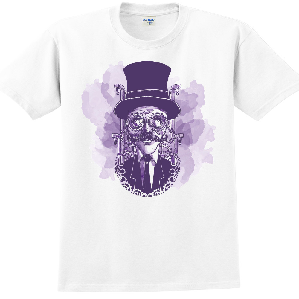 YOSHI850|新創設計師850 Collections【發明家】短袖成人T-shirt (白)