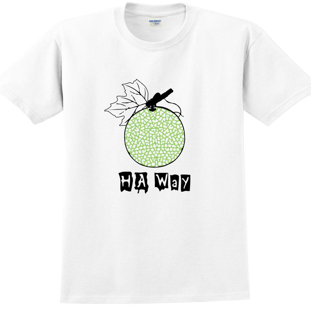 YOSHI850|新創設計師850 Collections【Ha Way】短袖成人T-shirt (白)