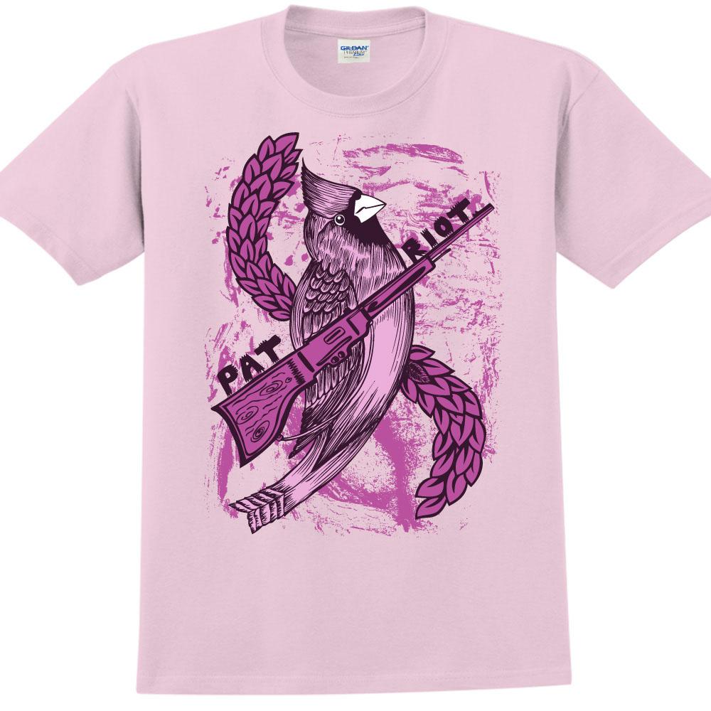 YOSHI850|新創設計師850 Collections【PAT RIOT】短袖成人T-shirt (粉紅)