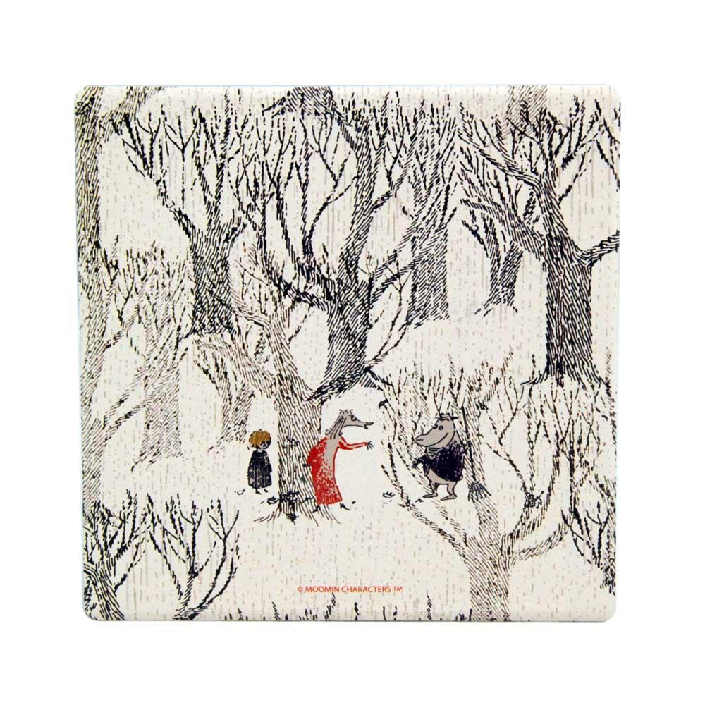 YOSHI850|Moomin嚕嚕米正版授權:吸水杯墊【十一月的等待】(方.圓)