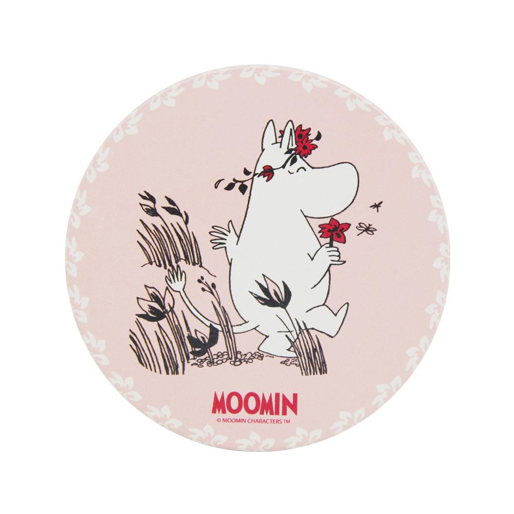 YOSHI850 Moomin嚕嚕米正版授權:吸水杯墊【I˙m in love】(方.圓)
