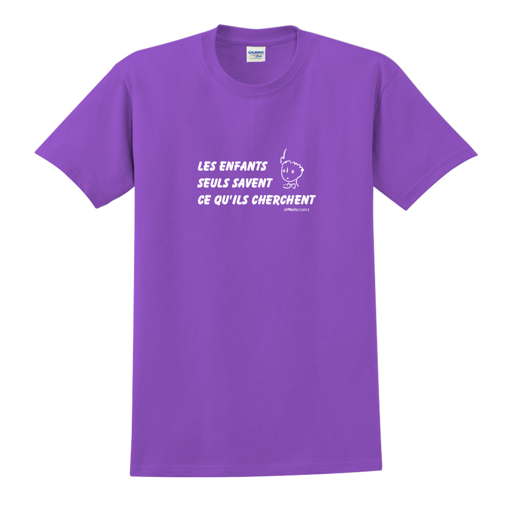 YOSHI850|小王子經典版授權【只有小孩子知道他們在找甚麼】短袖中性T-shirt (紫)