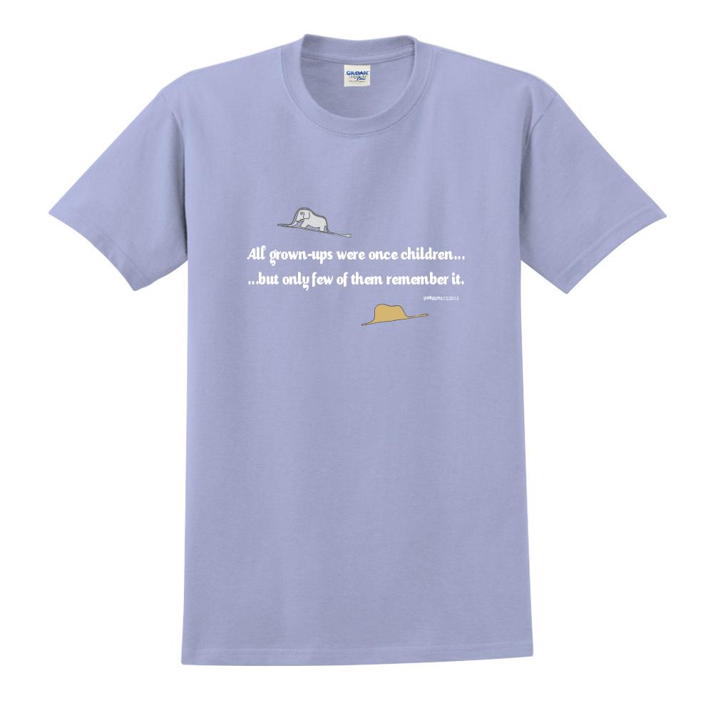 YOSHI850|小王子經典版授權【純真】短袖中性T-shirt (卡藍)