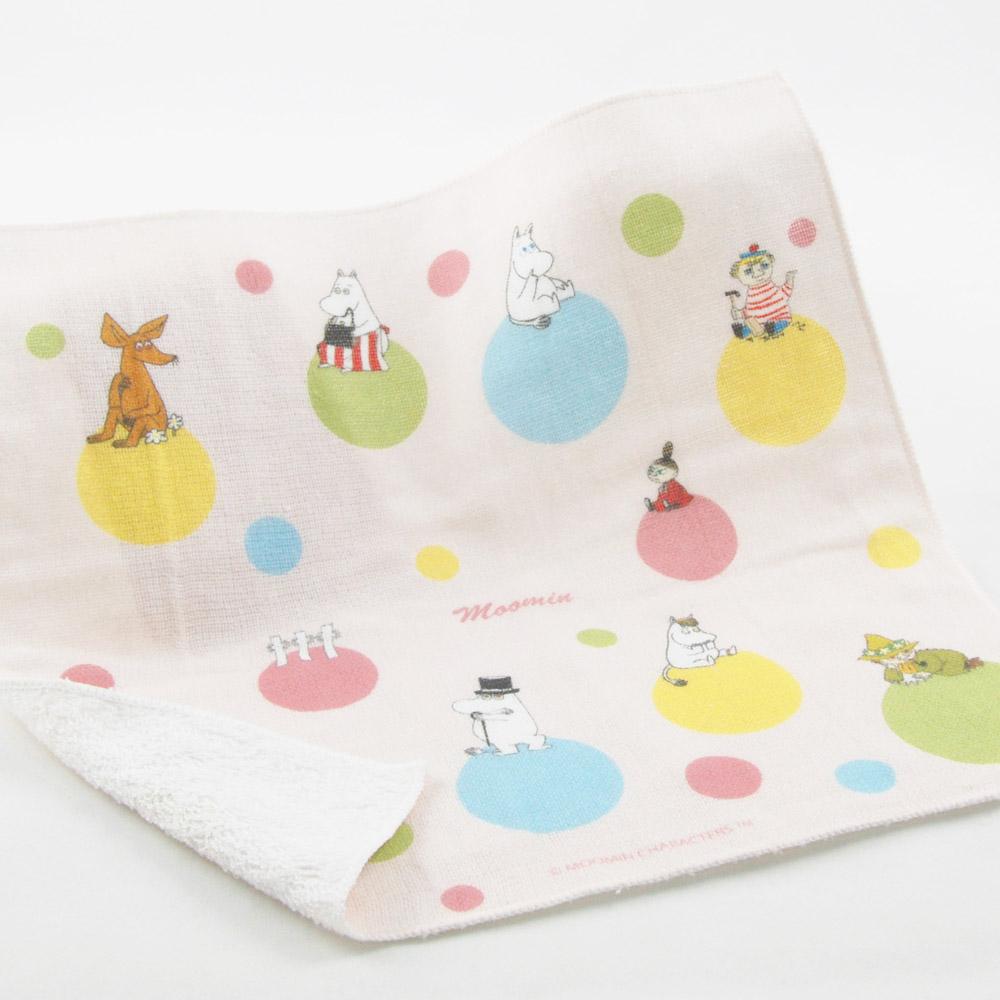 YOSHI850|Moomin嚕嚕米正版授權:柔棉小方巾【彩虹泡泡】