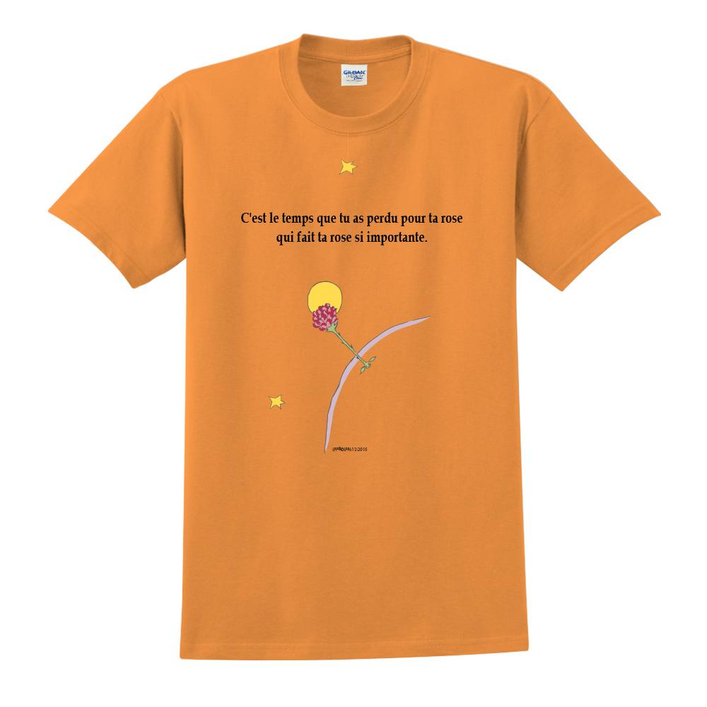 YOSHI850|小王子經典版授權【專屬愛情】短袖中性T-shirt (橘)