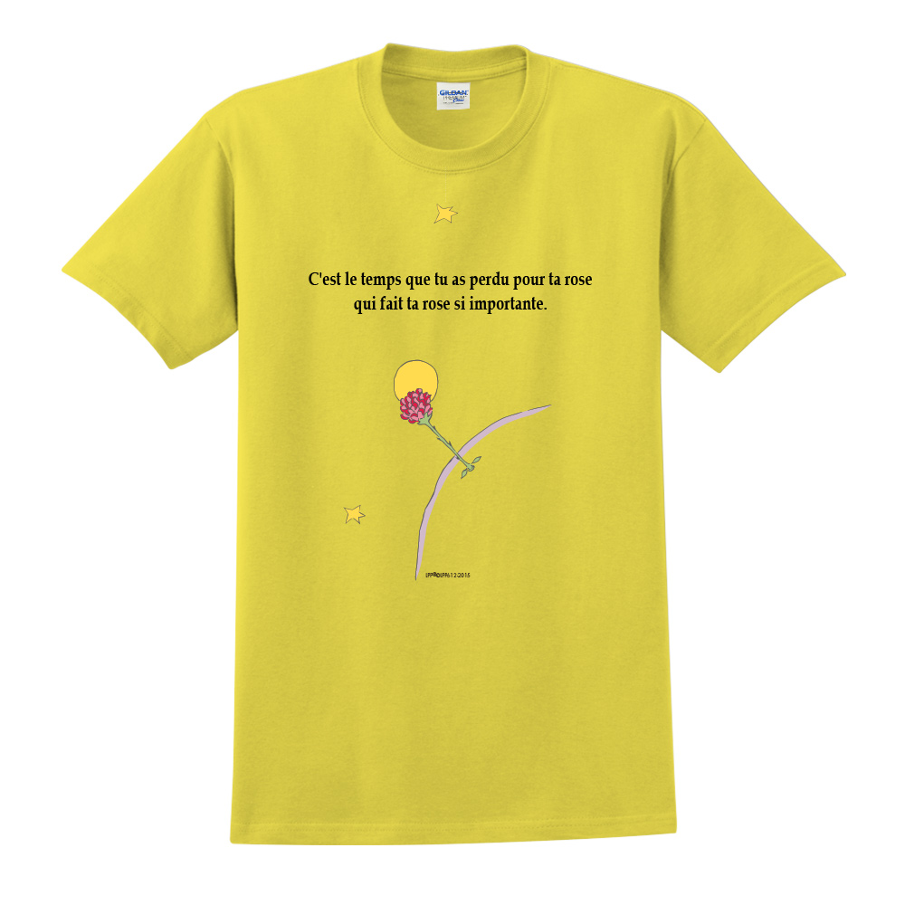 YOSHI850|小王子經典版授權【專屬愛情】短袖中性T-shirt (黃)