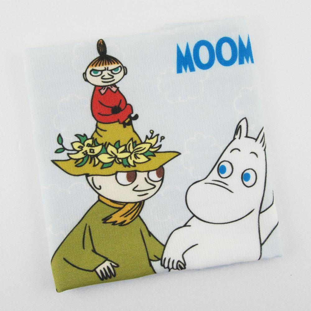 YOSHI850 Moomin嚕嚕米正版授權:柔棉小方巾【Let's go】