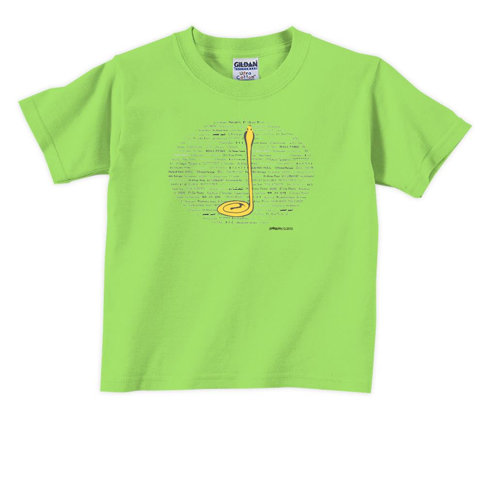 YOSHI850|小王子經典版授權【沙漠中的黃蛇】短袖兒童T-shirt 《6色》