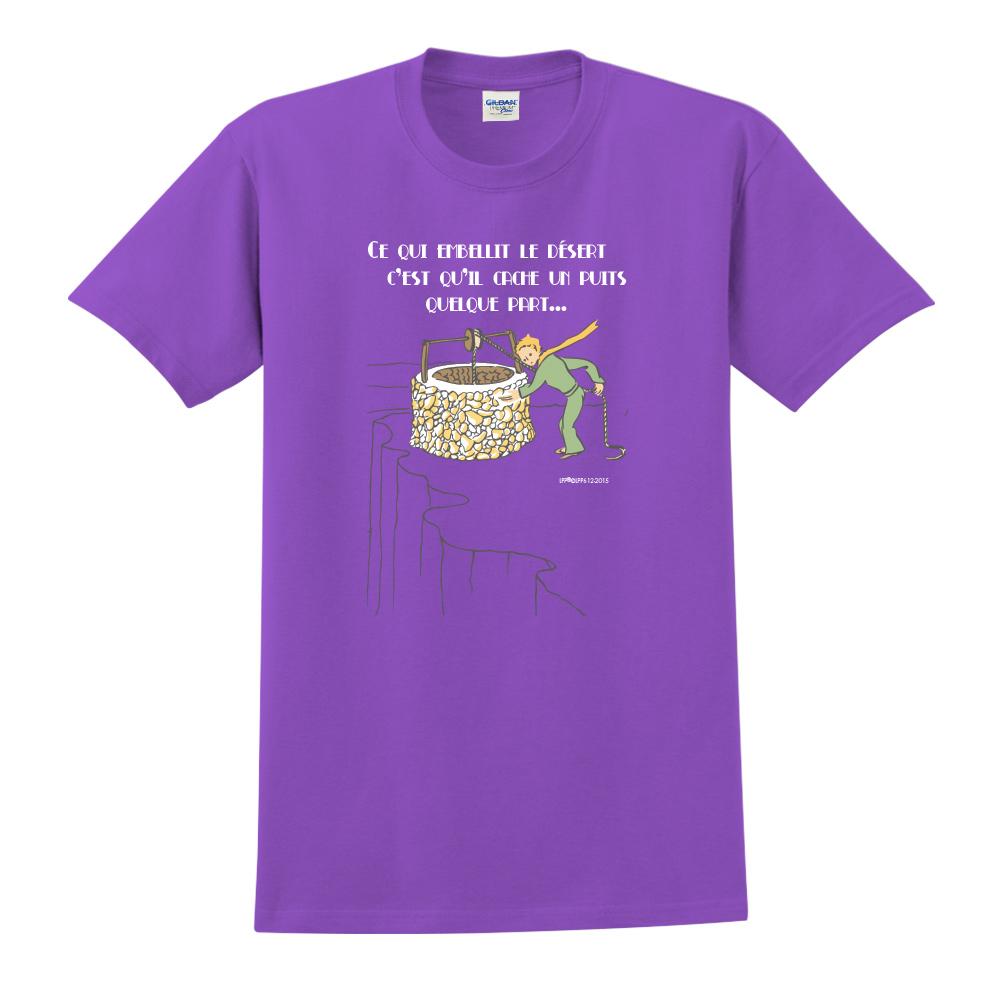 YOSHI850 小王子經典版授權【讓沙漠美麗的水井】短袖中性T-shirt (紫)