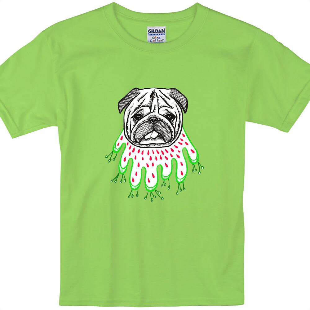 YOSHI850|新創設計師陳小安【草裙巴哥】短袖兒童T-shirt(果綠)