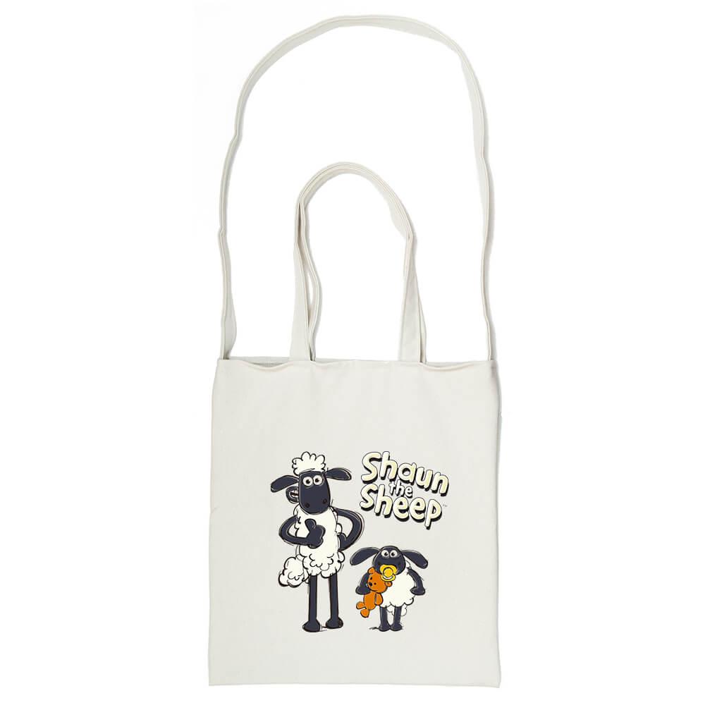 YOSHI850|笑笑羊正版授權Shaun The Sheep:斜背包【疊疊樂 】米白/麻黃