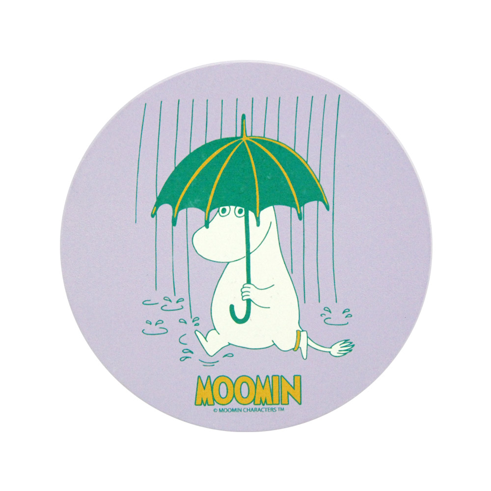 YOSHI850|Moomin嚕嚕米正版授權:吸水杯墊【雨中散步】(方.圓)