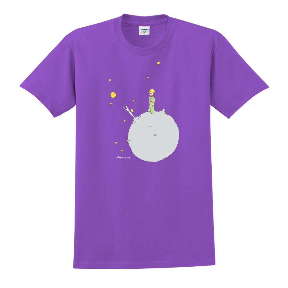 YOSHI850|小王子經典版授權【另一個星球】短袖中性T-shirt (紫)