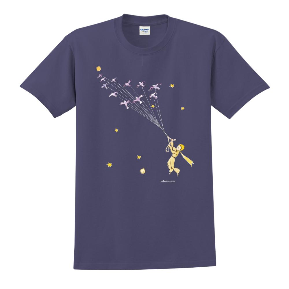 YOSHI850|小王子經典版授權【帶我去旅行】短袖中性T-shirt (藏青)