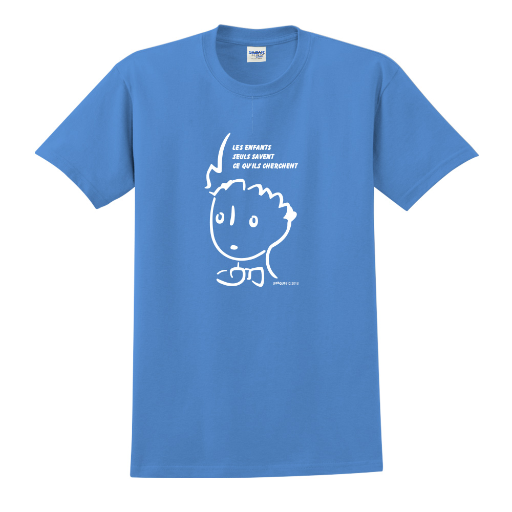 YOSHI850|小王子經典版授權【奇怪的大人們】短袖中性T-shirt (寶石藍)