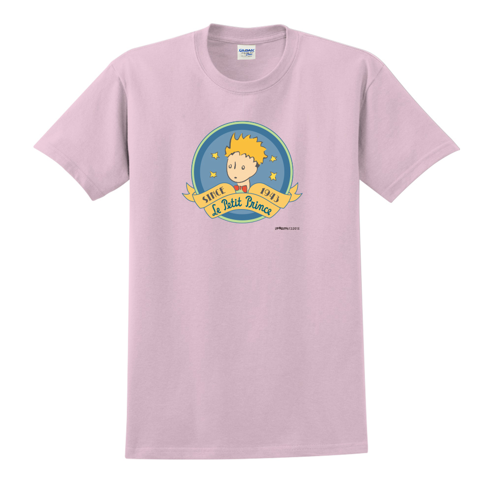 YOSHI850|小王子經典版授權【跟你說聲Hi】短袖中性T-shirt (粉紅)