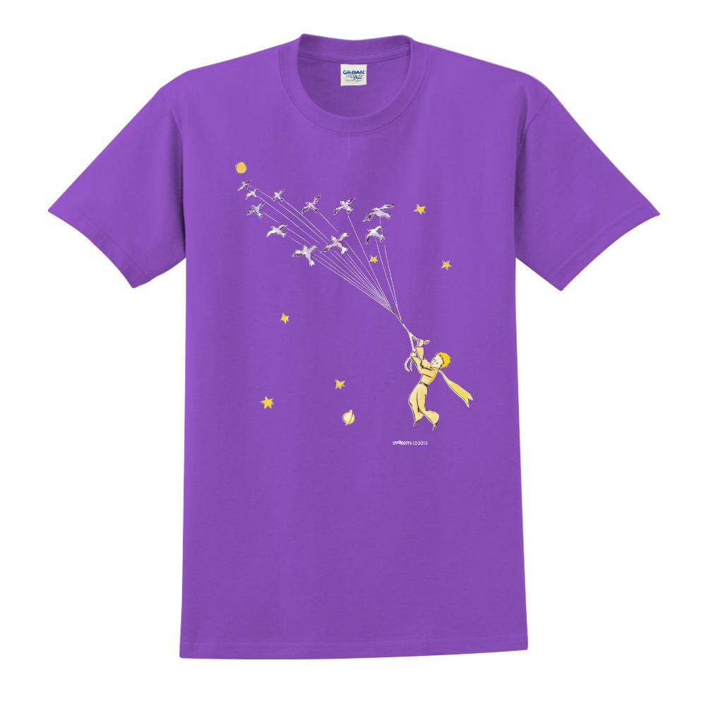 YOSHI850|小王子經典版授權【帶我去旅行】短袖中性T-shirt (紫)