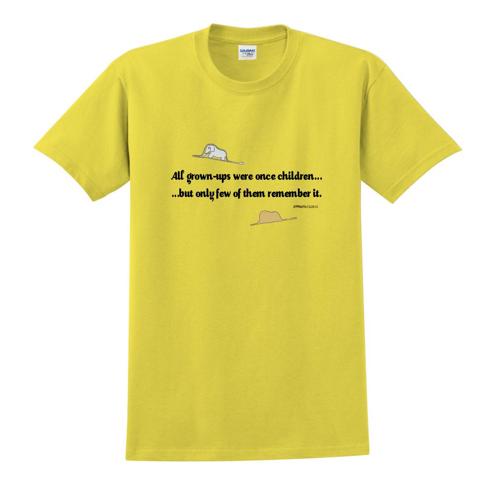 YOSHI850|小王子經典版授權【純真】短袖中性T-shirt (黃)