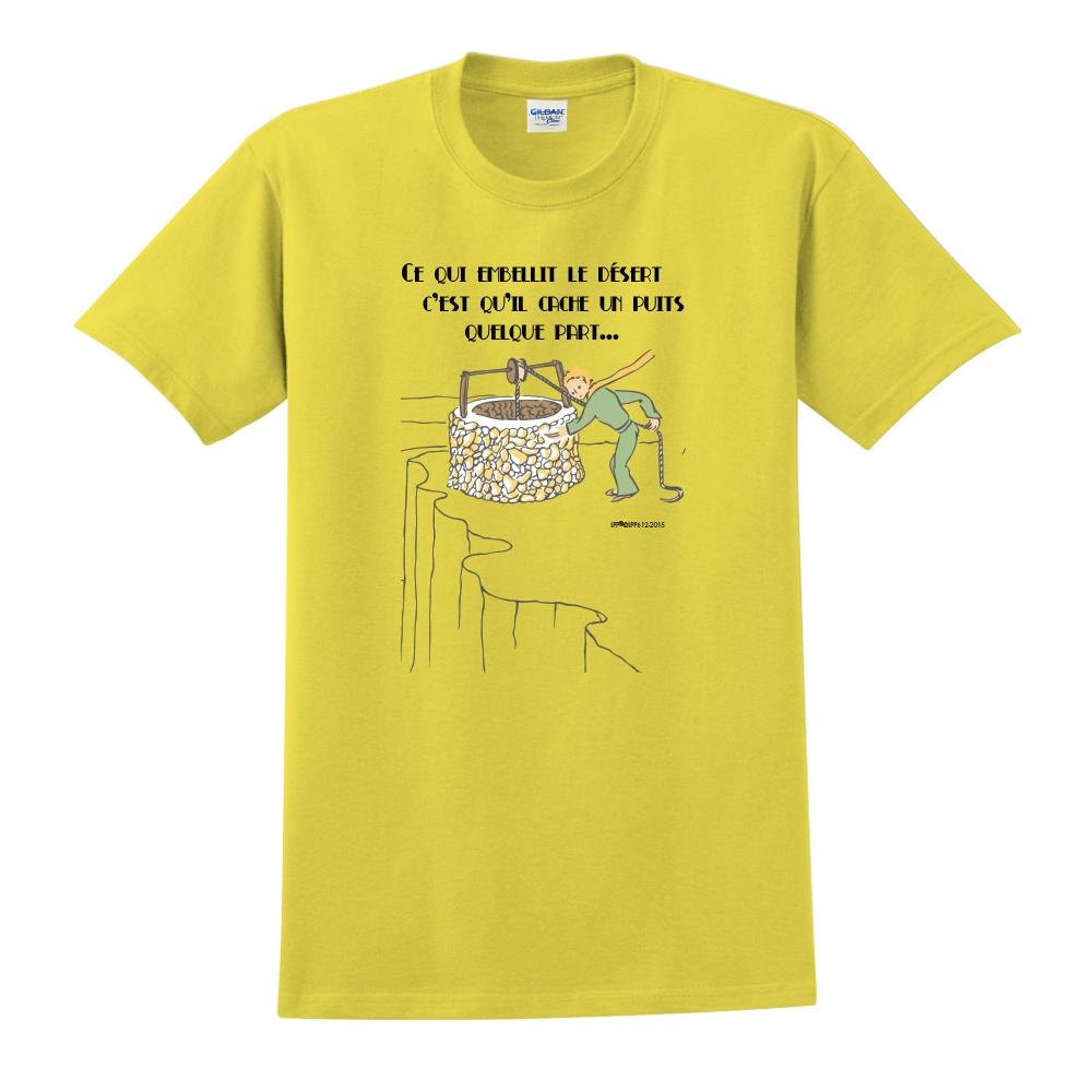 YOSHI850|小王子經典版授權【讓沙漠美麗的水井】短袖中性T-shirt (黃)