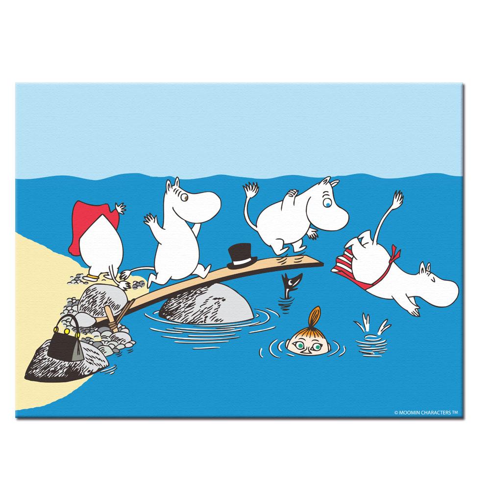 YOSHI850|Moomin嚕嚕米:無框畫【Moomin嚕嚕米】70×70cm/60×80cm
