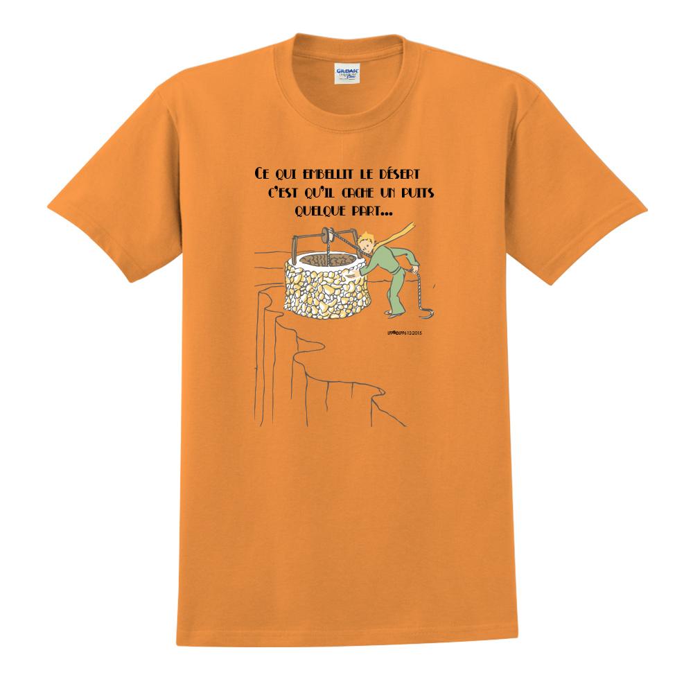 YOSHI850 小王子經典版授權【讓沙漠美麗的水井】短袖中性T-shirt (橘)
