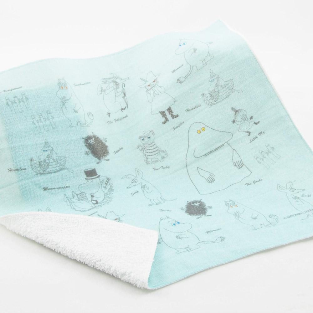 YOSHI850|Moomin嚕嚕米正版授權:柔棉小方巾【描繪Moomin】