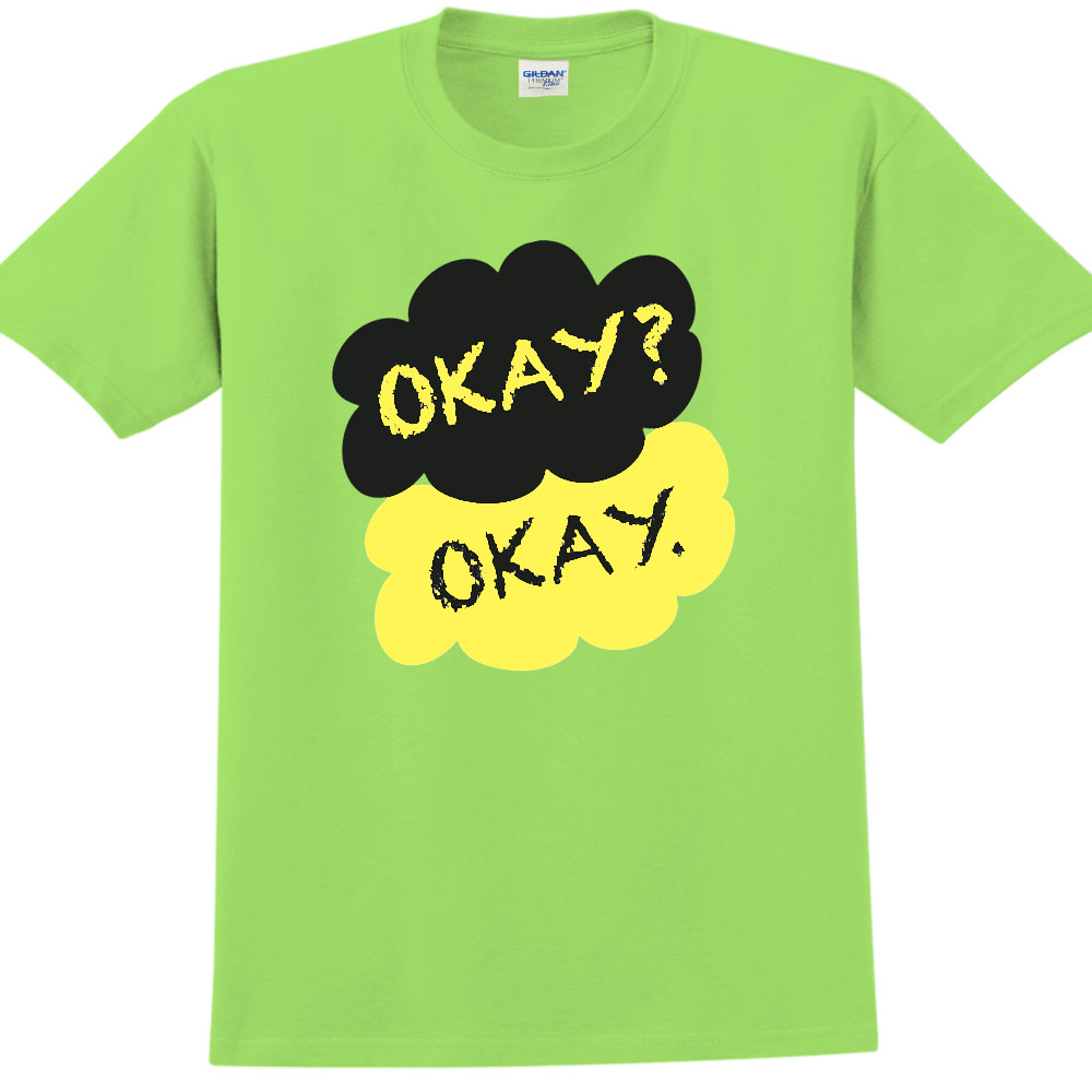 YOSHI850|新創設計師850 Collections【Okay】短袖成人T-shirt (果綠)
