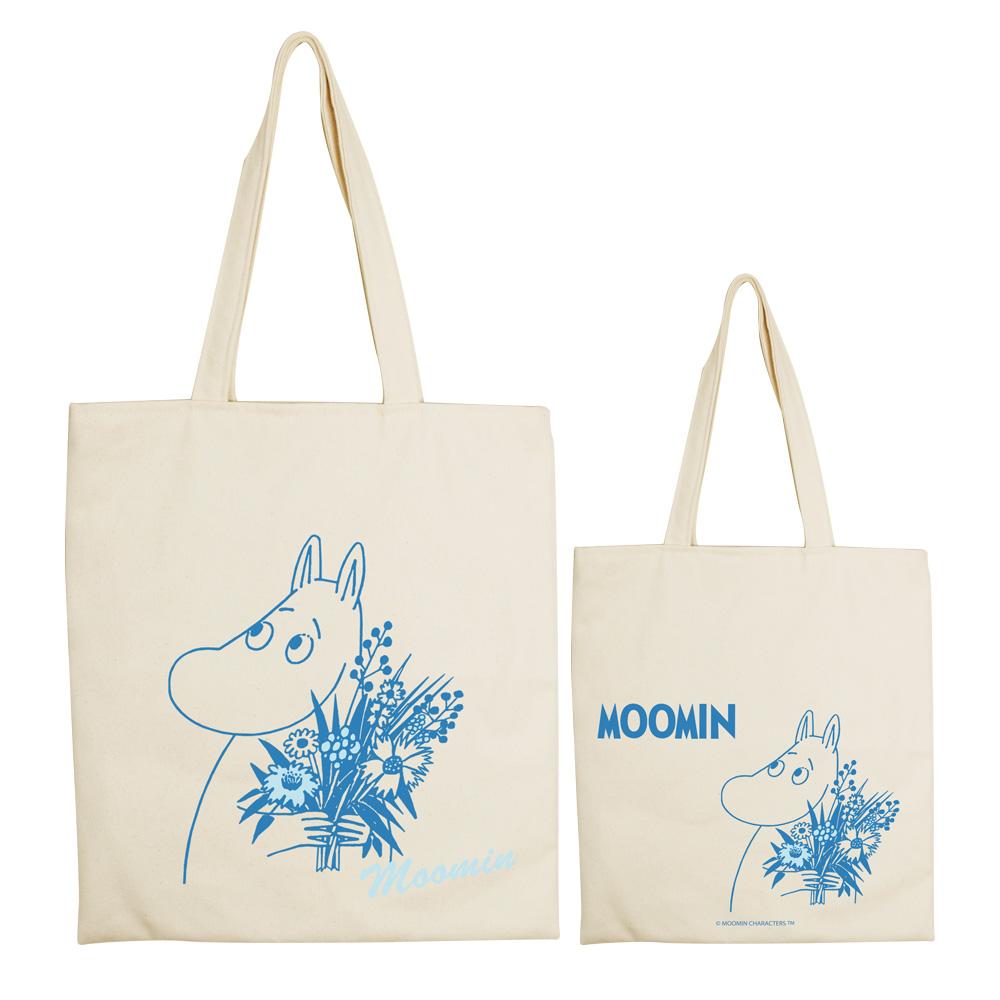 YOSHI850|Moomin嚕嚕米正版授權:手提購物包【Moomin】 米白/麻黃