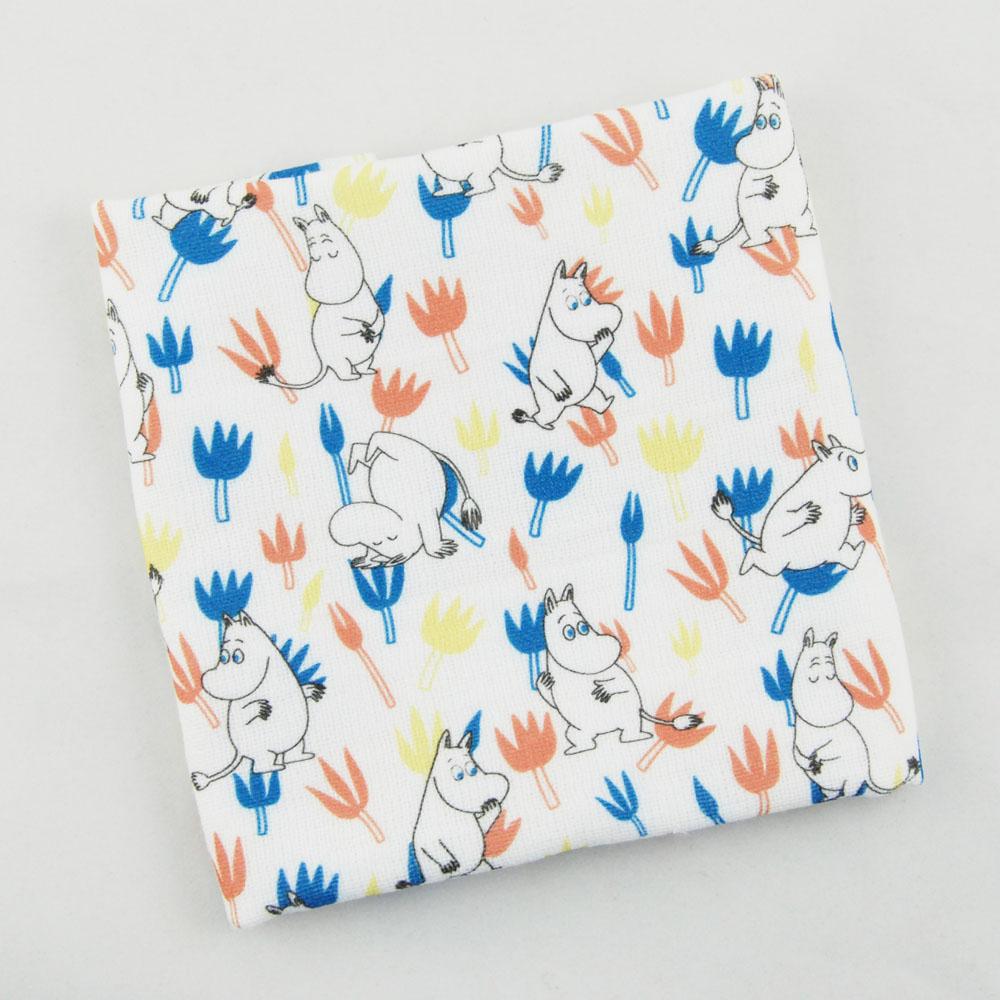 YOSHI850 Moomin嚕嚕米正版授權:柔棉小方巾【Moomin精靈】