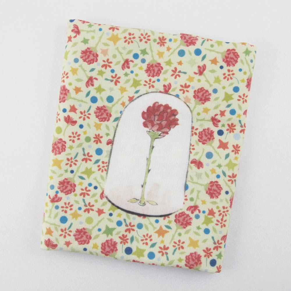 YOSHI850|小王子經典版授權:柔棉小方巾【玻璃罩裡的玫瑰花】