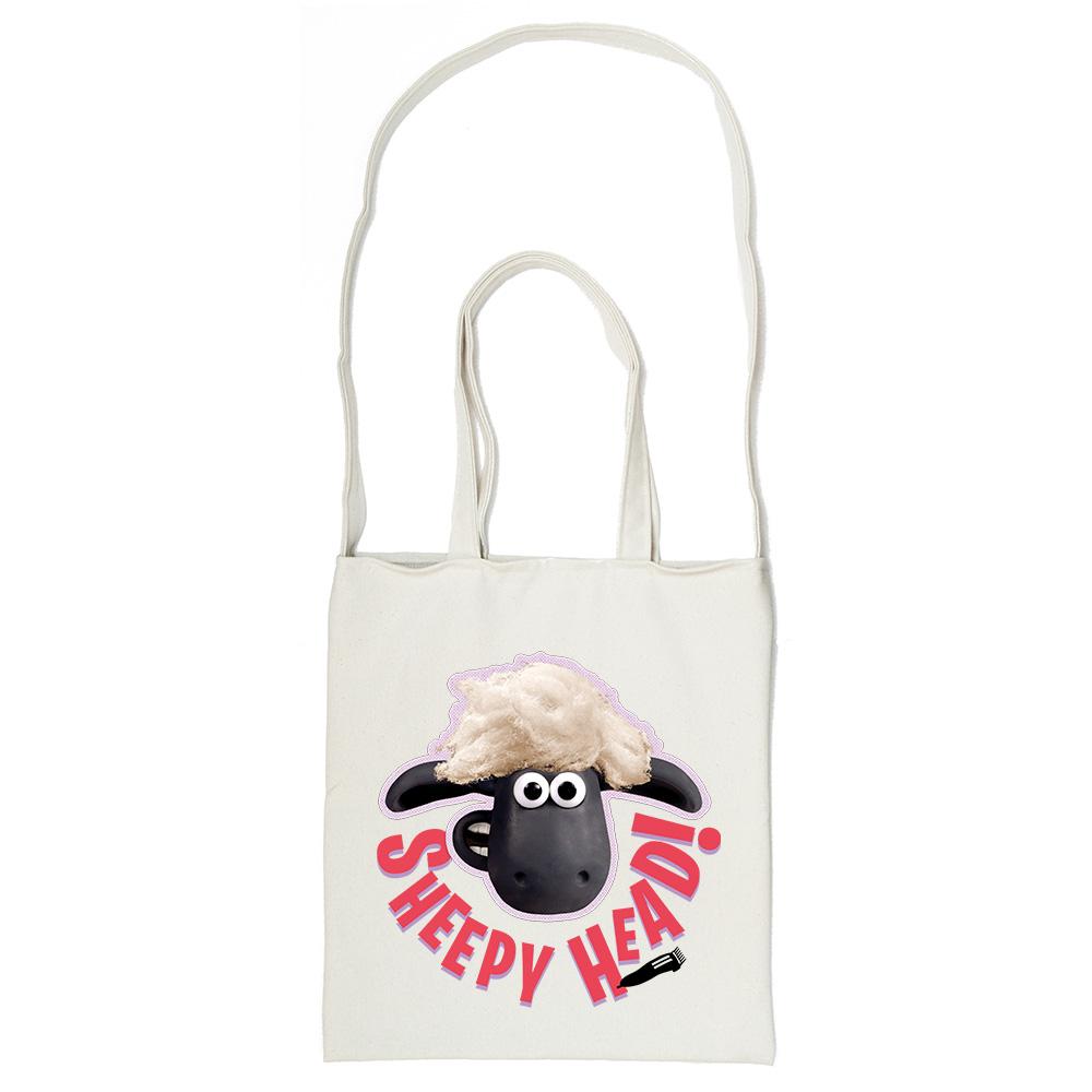 YOSHI850|笑笑羊正版授權Shaun The Sheep:斜背包【ZZ羊 】米白/麻黃
