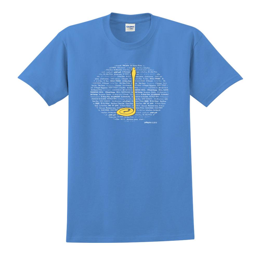 YOSHI850 小王子經典版授權【沙漠中的黃蛇】短袖中性T-shirt (寶石藍)