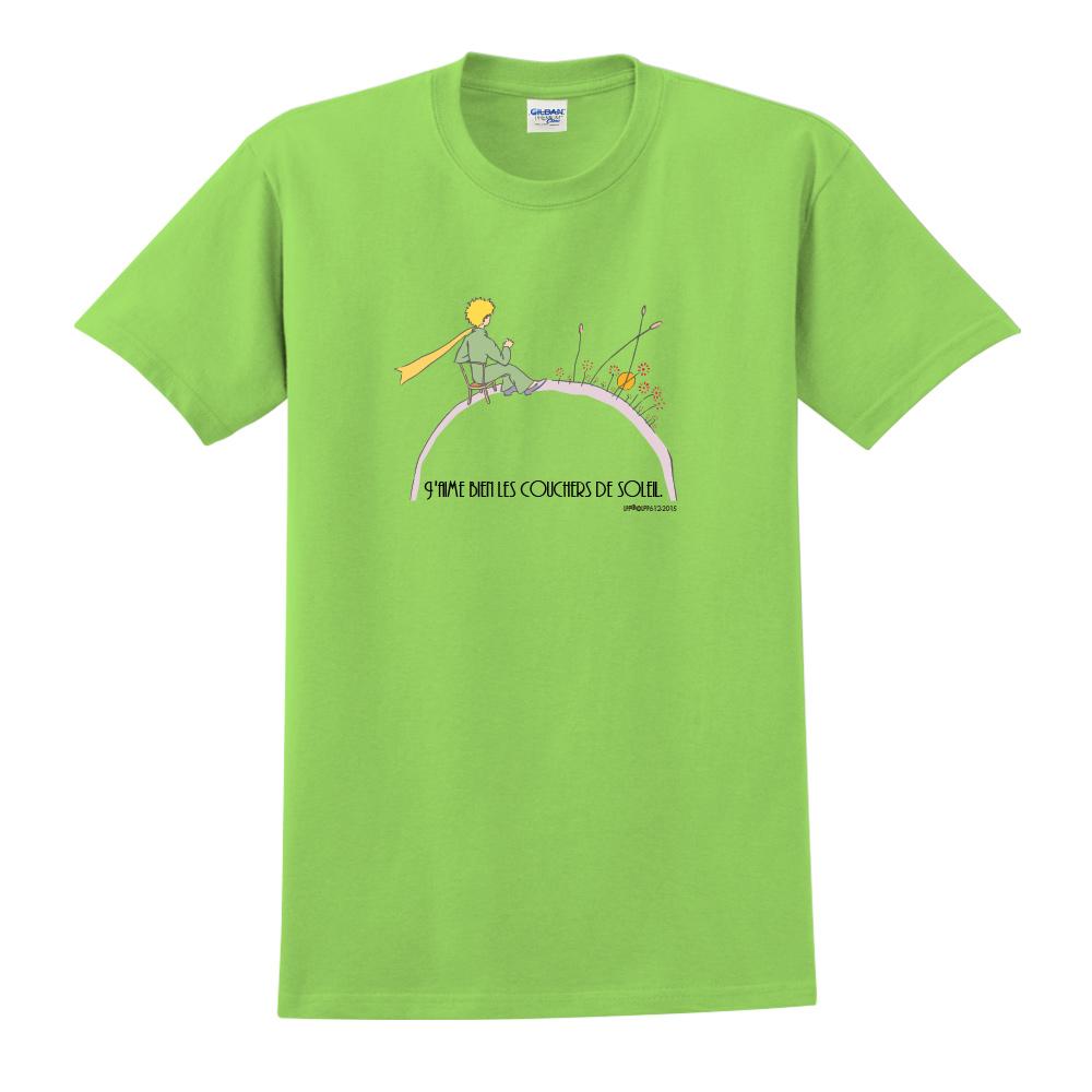 YOSHI850 小王子經典版授權【夕陽】短袖中性T-shirt (果綠)