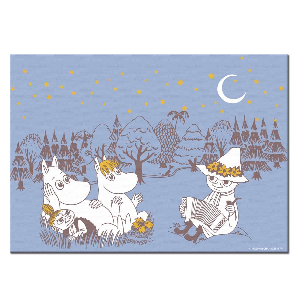 YOSHI850|Moomin嚕嚕米:無框畫【Moomin嚕嚕米家族大集合】30×40cm
