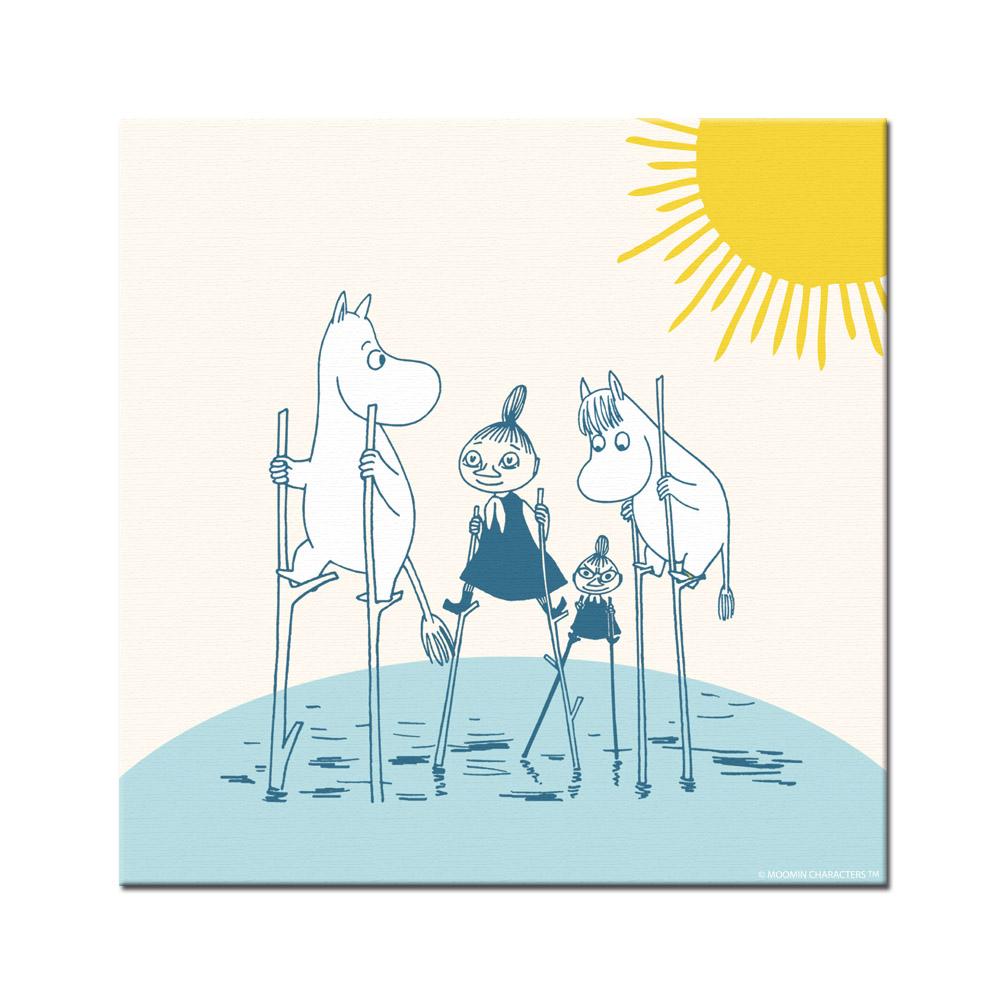 YOSHI850|Moomin嚕嚕米:無框畫【Moomin嚕嚕米家族大集合】30×30cm