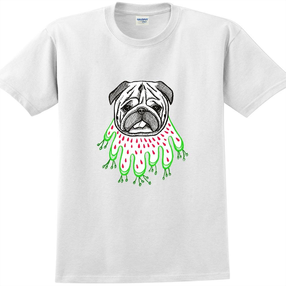 YOSHI850|新創設計師陳小安【草裙巴哥】短袖成人T-shirt (白)
