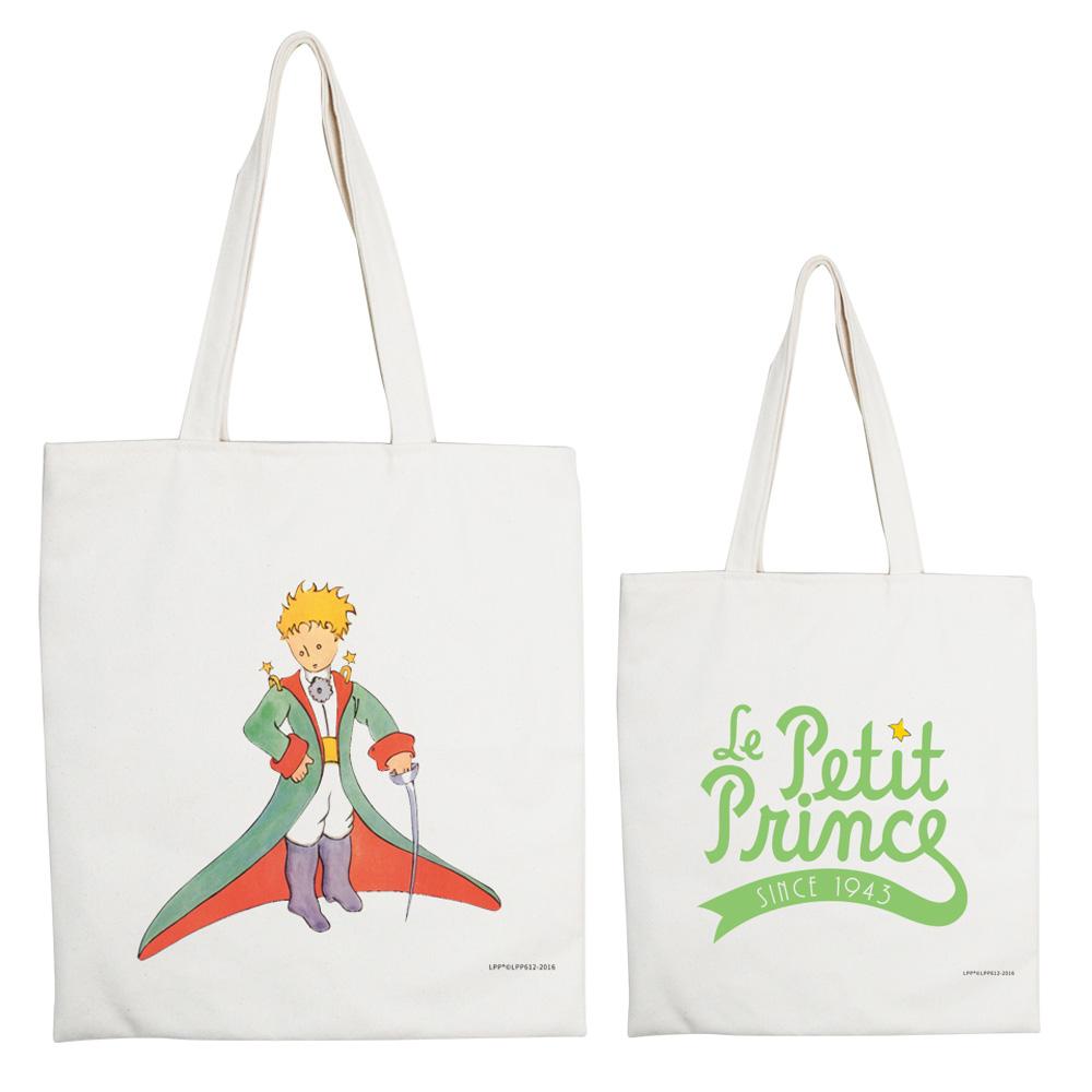 YOSHI850|小王子經典版授權系列:手提購物包【溫柔的審判官】米白/麻黃