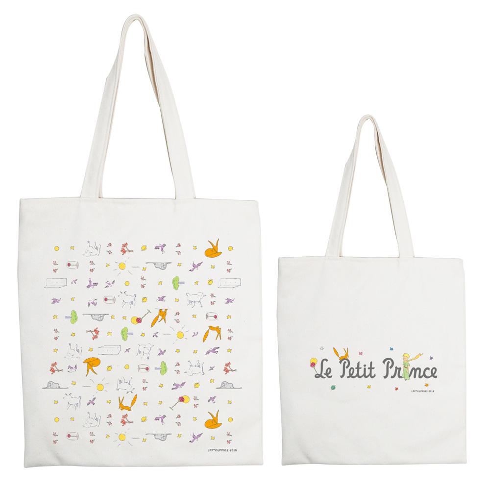 YOSHI850|小王子經典版授權系列:手提購物包【小王子樂園】米白/麻黃