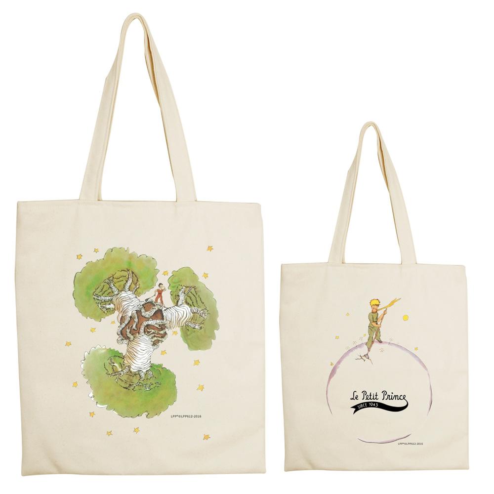YOSHI850|小王子經典版授權系列:手提購物包【猢猻麵包樹】米白/麻黃