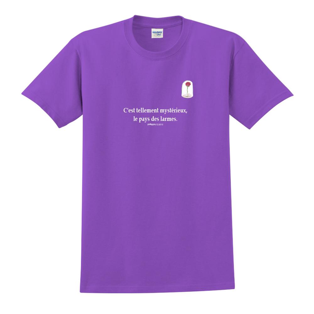 YOSHI850|小王子經典版授權【玻璃罩裡的玫瑰花】短袖中性T-shirt (紫)