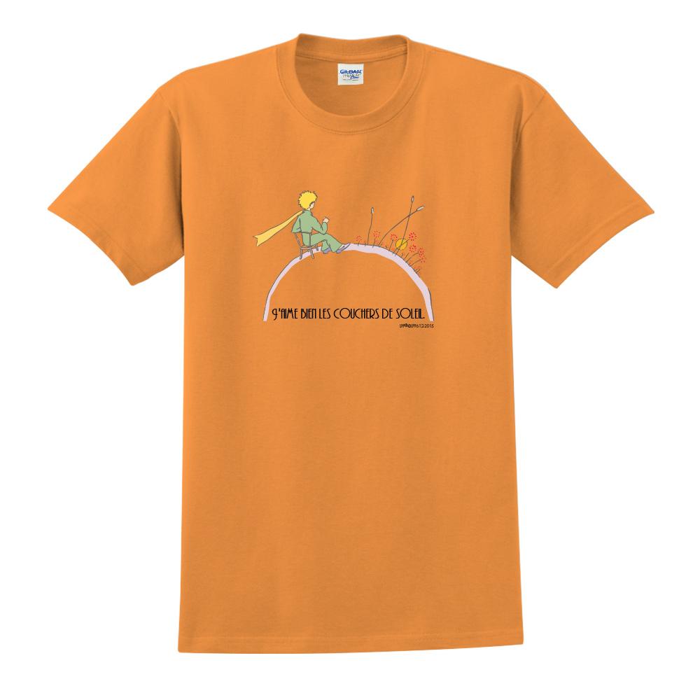 YOSHI850|小王子經典版授權【夕陽】短袖中性T-shirt (橘)